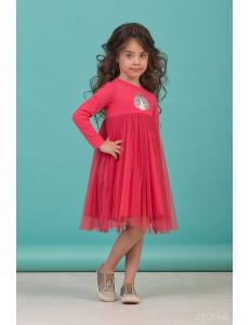 """Платье для девочек с длинным рукавом ярко-розового цвета """"Spring"""""""