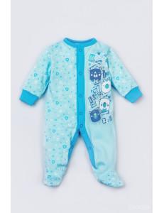 """Комбинезон голубого цвета для малышей """"Мишки"""""""